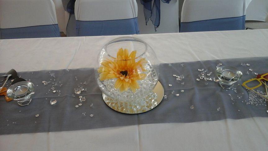 Fish bowl table centre