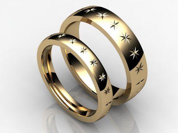 Diamond cut rings