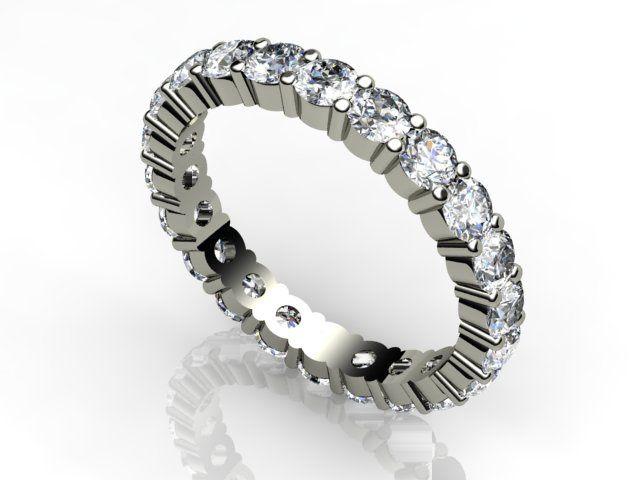 White gold full E.T ring
