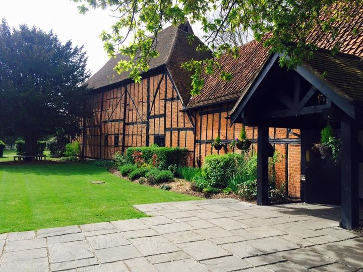 Front of the tithe barn