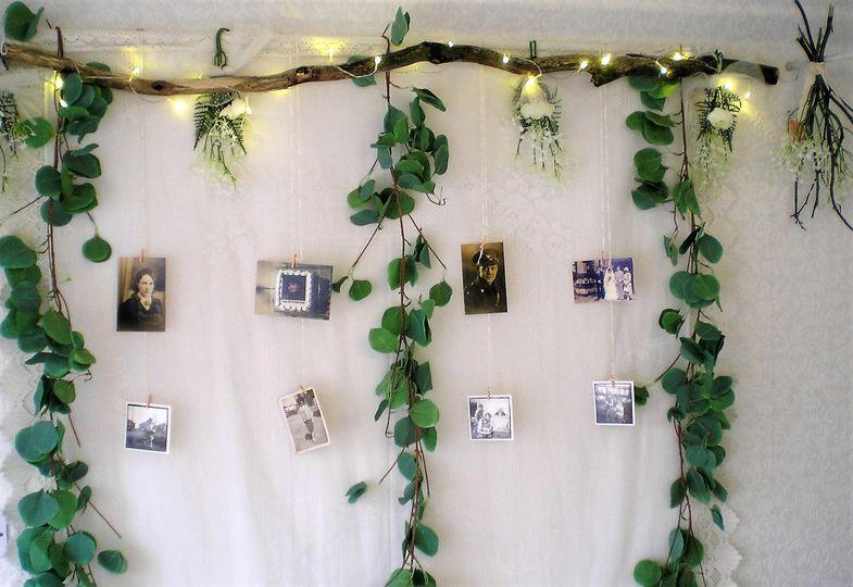 Hanging garland of photos