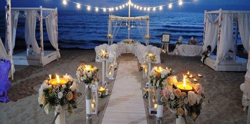 Beach wedding italy