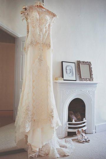 The dress awaits
