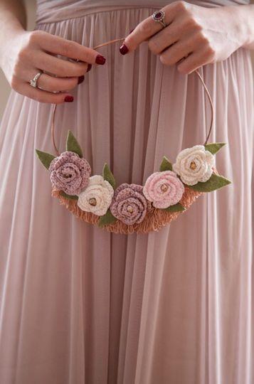 Keepsake hoop bouquet