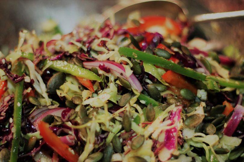 Chopped salads and seeds