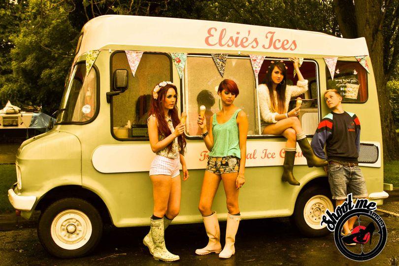 Ice cream van photo shoot