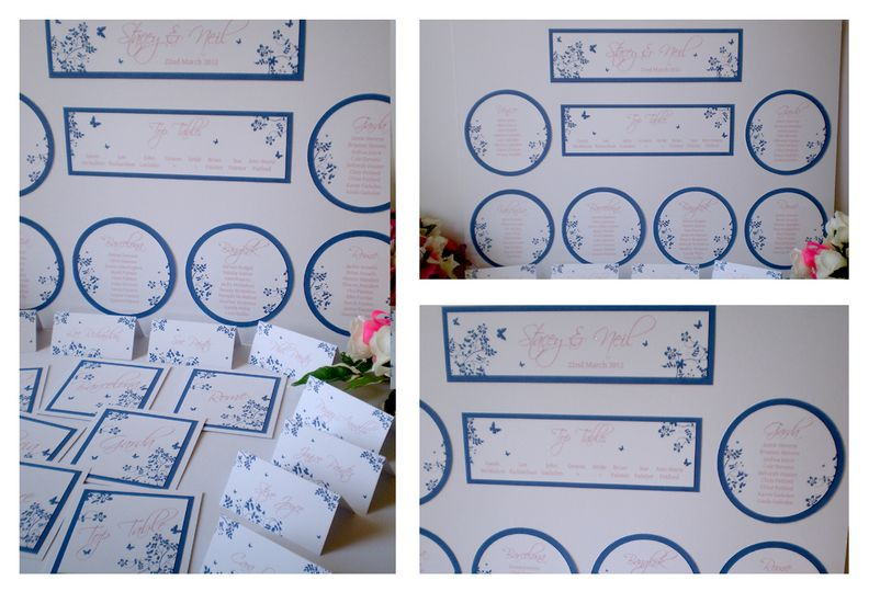 Floral Butterfly Table Plan