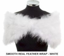 White or Ivory real feather wrap