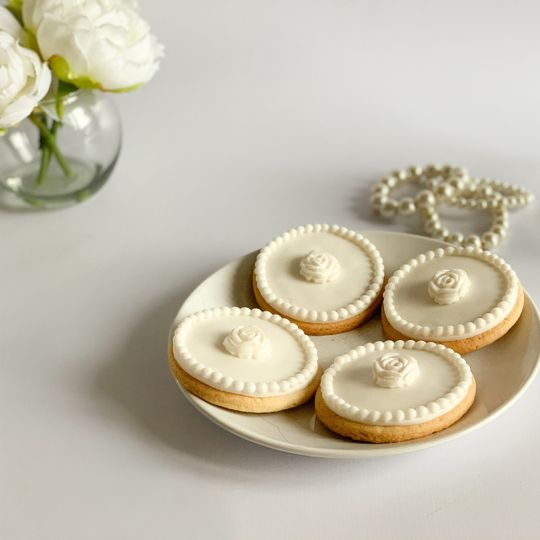 All white sugar cookies