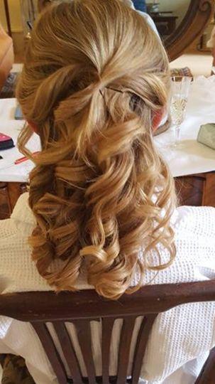 Curly half hair up