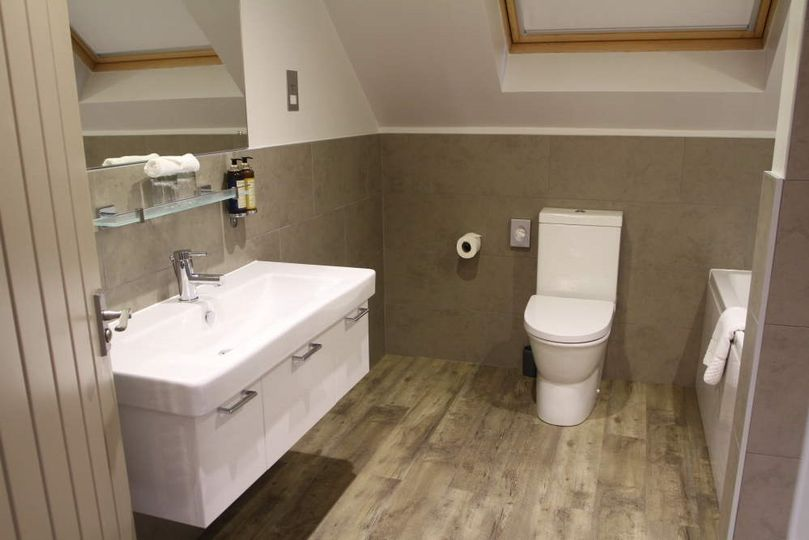 One of the bathrooms in our new bedrooms in the coachouse