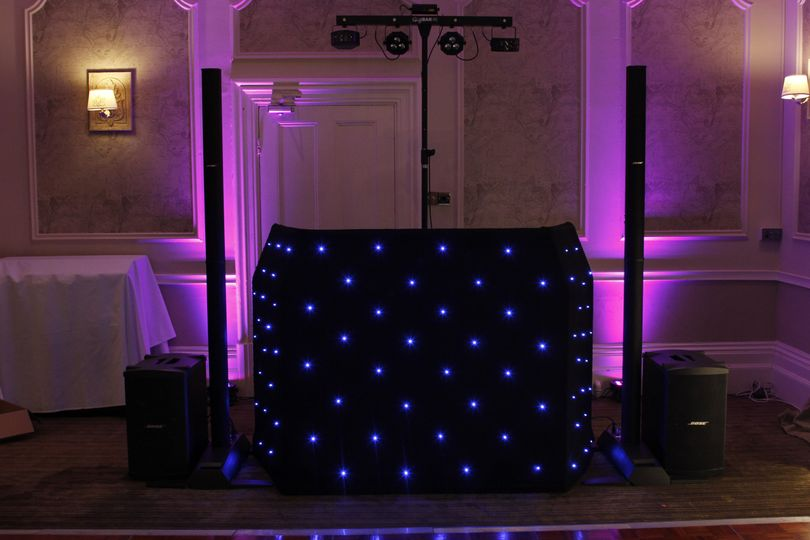 Small Mobile Disco set up