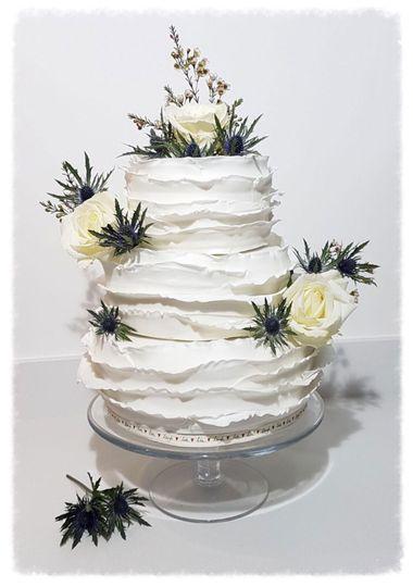 White Wedding ruffles