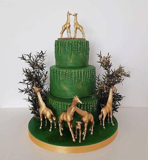 Safari wedding cake