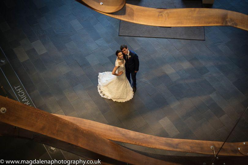 Bride & Groom in Lobby