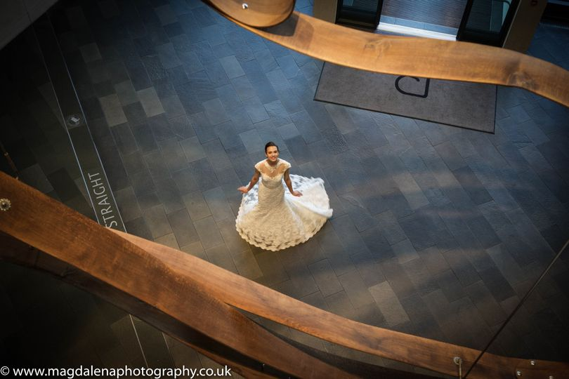 Bride in the Lobby