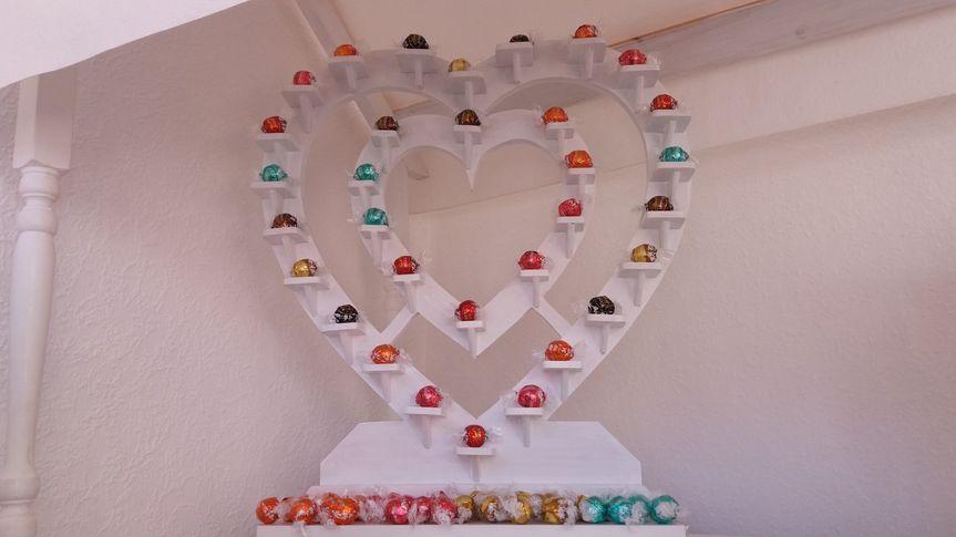 Chocolate heart stand