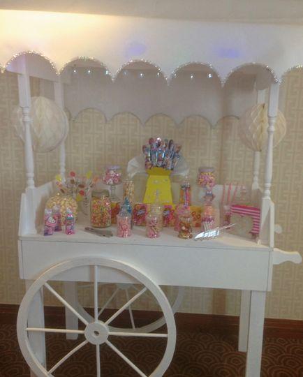 Vintage candy cart