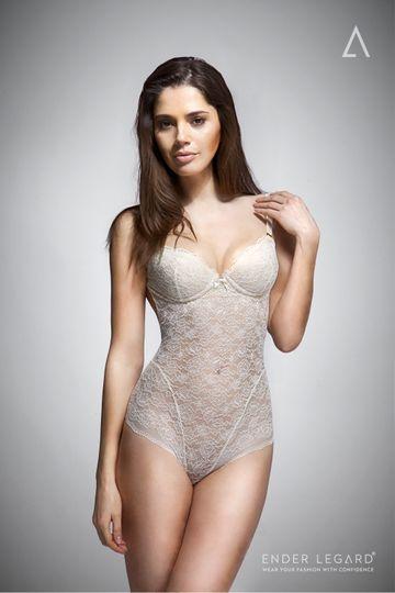 UMA backless bodysuit ivory