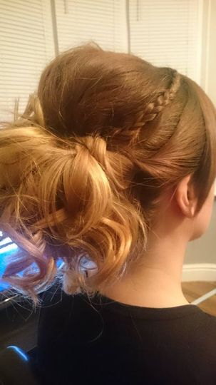 Plaited Curl Updo