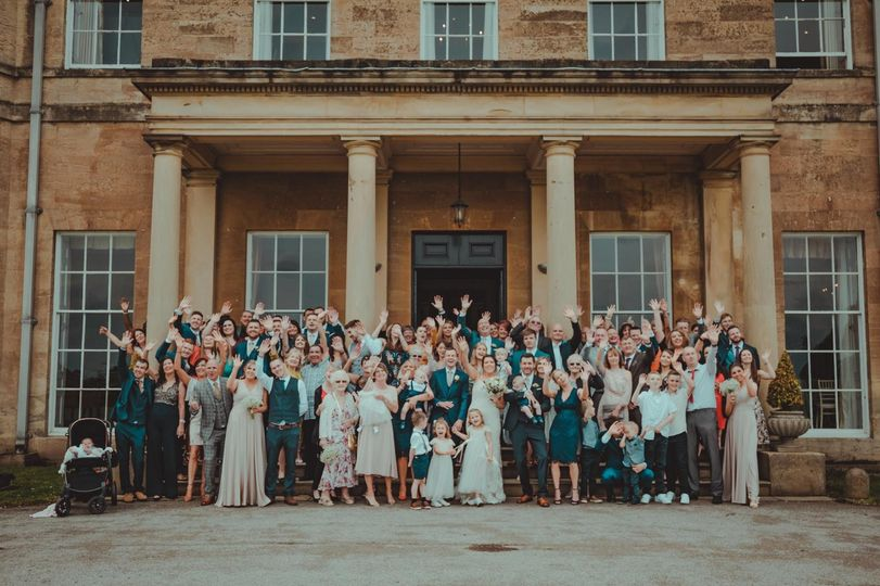 Newlyweds and their wedding guests - 21 Degrees Wedding Videography