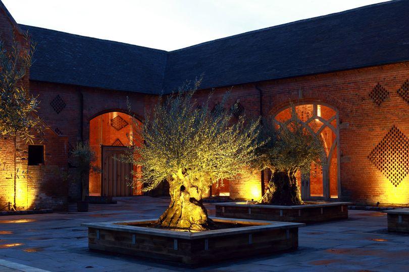 Shustoke Courtyard by night