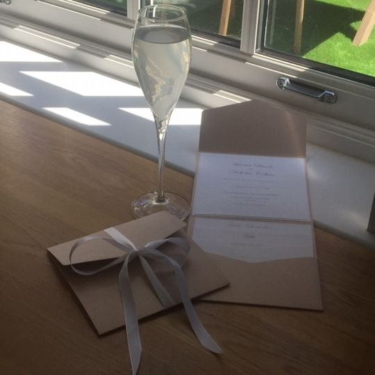 Invites and champagne