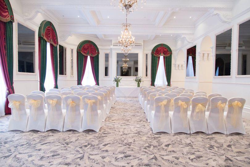Ceremony in The Marlborough Suite
