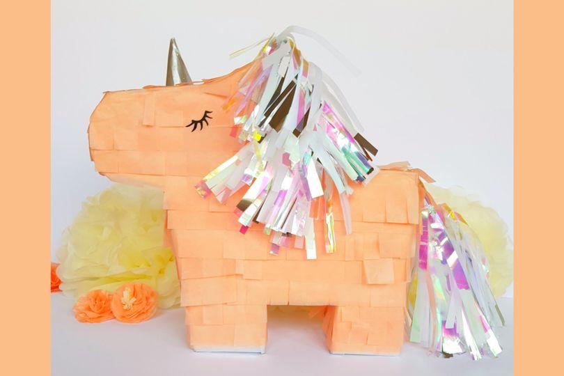 Peach Unicorn Pinata