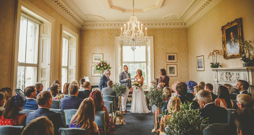 Wedding Ceremony at Clifton Hill House