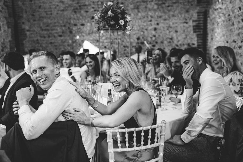 Guests laughing and having fun - Samantha Pells Photography