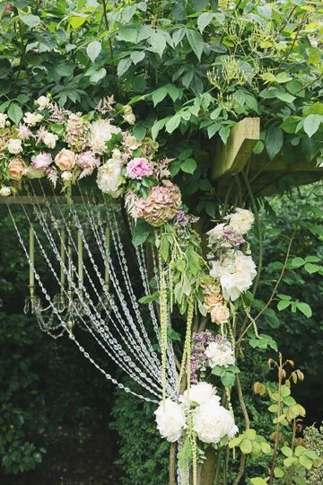 Flower decorated Pergola