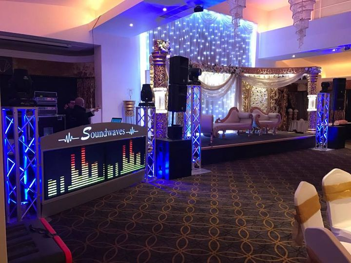 DJ Booth with TV Screens