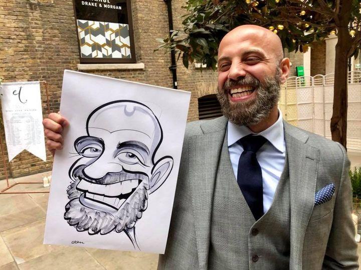 Beardy grin