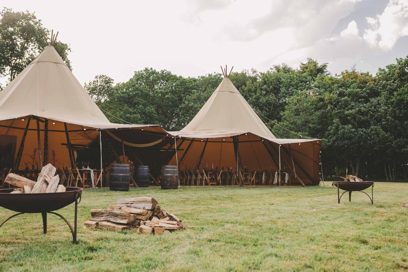 Tipi in our secluded meadow
