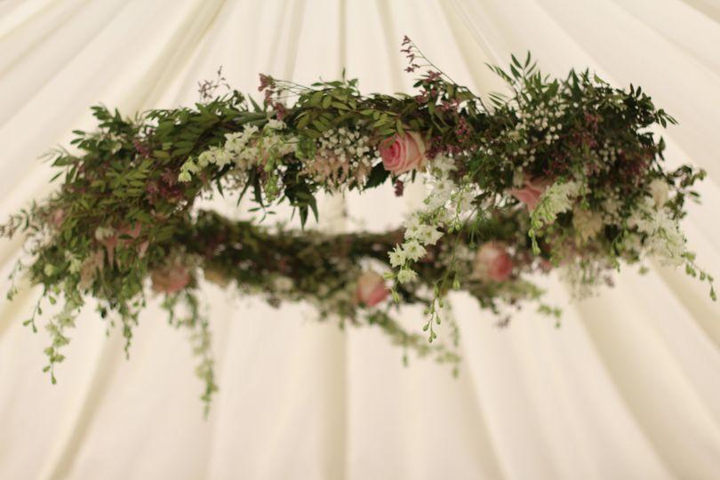 Hanging Hoop of Flowers