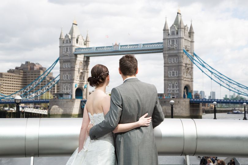 Couple overlooking Tower Bridge