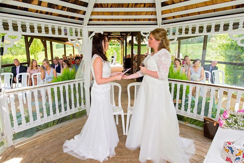Two Brides in the Pavilion