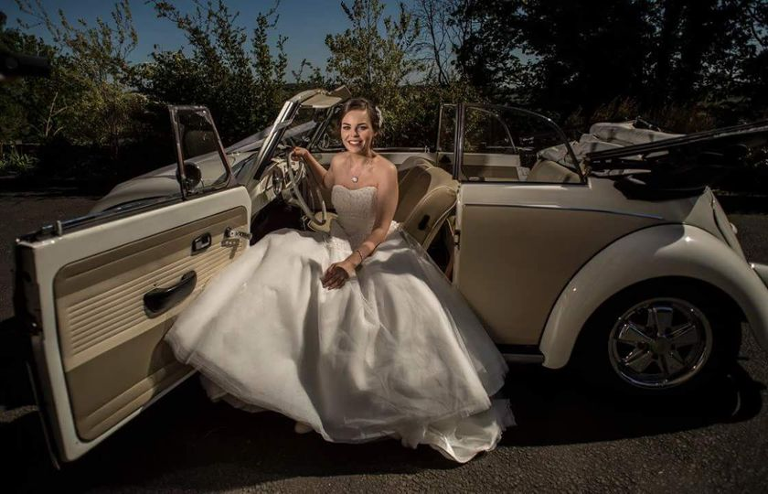 Bride and beetle