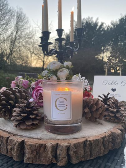 Candles as table decor