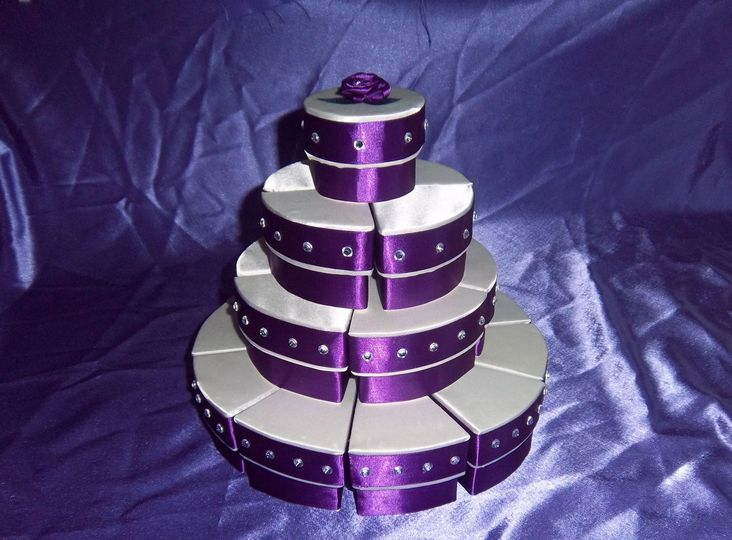 4 Tier Cake Slice Favour Boxes