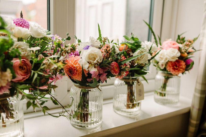 Bridal party bouquets