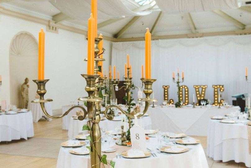 Antique gold candelabras