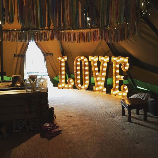 Gold circus love letters