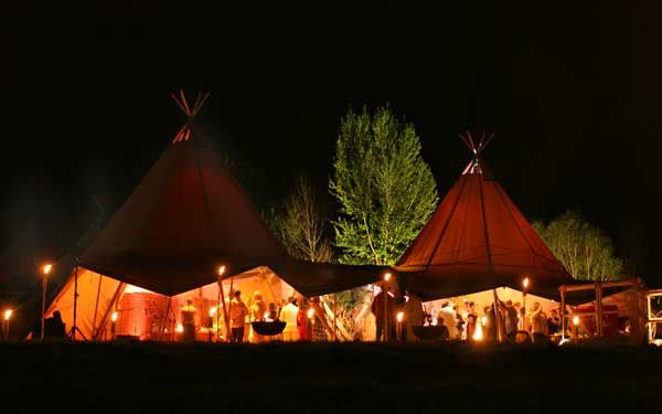 Giant Hat Tipi's Wales