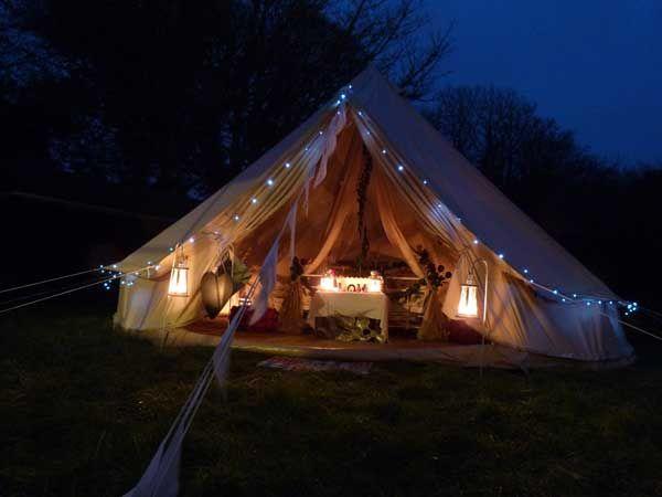 Wedding Bell Tent Night