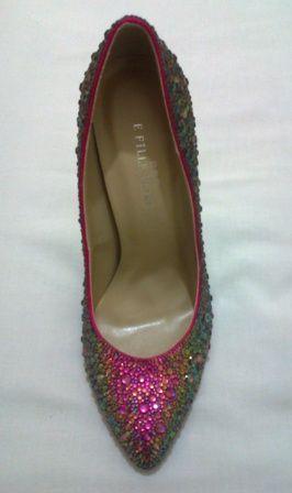 Rainbow crystal shoes