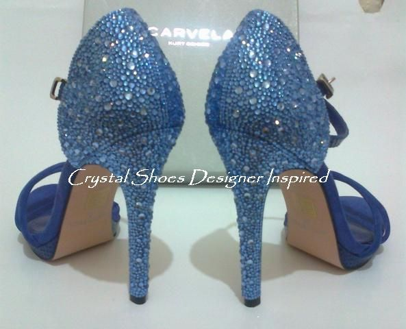 Lt sapphire crystal shoes