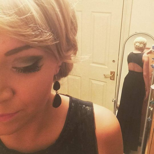 Lashes done for a ball