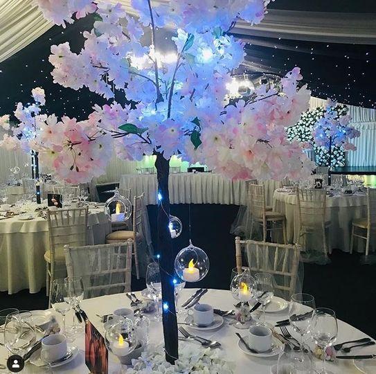 Tall floral centrepiece